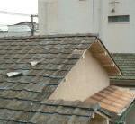 屋根瓦飛散