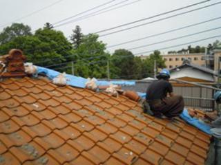 施工例:屋根修理