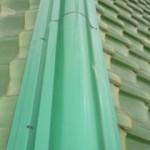 東京都葛飾区 Y様邸 棟瓦修理工事 ガルバリウム鋼板製棟瓦