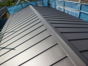 千葉県市川市S様邸 ガルバリウム鋼板タテ平葺き 屋根葺き替え工事
