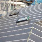 東京都江戸川区T様邸 ガルバリウム鋼板タテ平葺き 屋根葺き替え工事