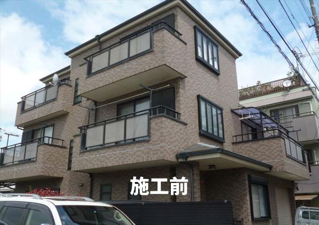 東京都葛飾区 屋根塗装、外壁塗装、防水工事施工前